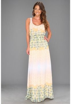 3b0629fe22 Jessica Simpson - Tank Maxi Dres w/ Front Bodice Tie (Print) - Apparel on  shopstyle.com