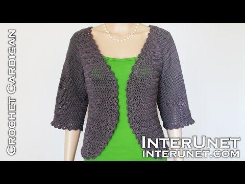 3a9d75826 Crochet triple stitch cardigan jacket. Part 2 of 2 - YouTube