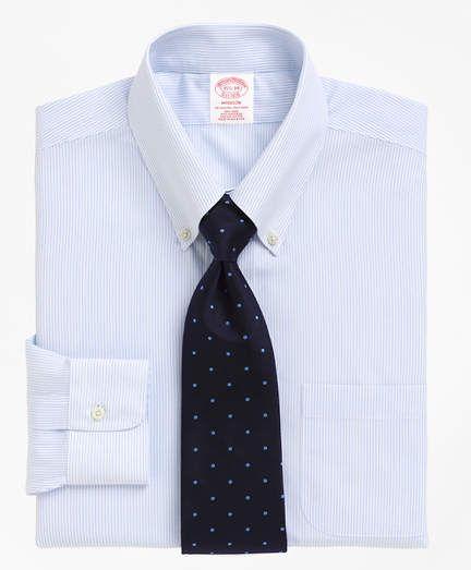 3dc3c75233be Brooks Brothers Madison Classic-Fit Dress Shirt, Non-Iron Mini Pinstripe