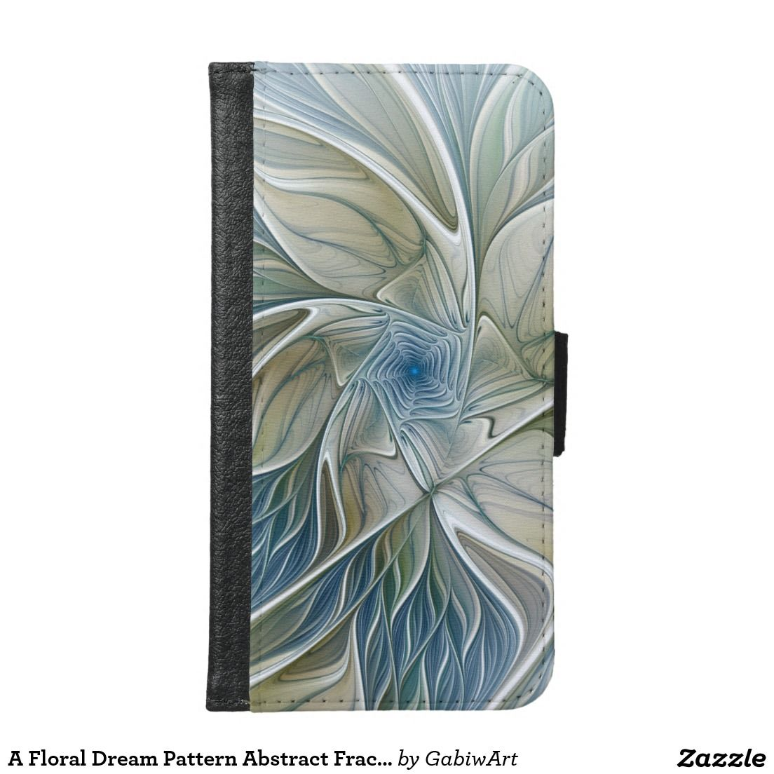 A Floral Dream Pattern Abstract Fractal Art Wallet Phone Case For Samsung Galaxy S6