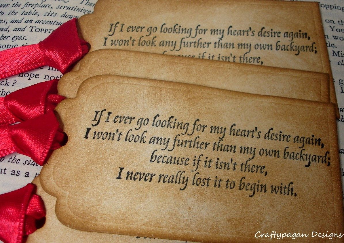 Quote Wizard Glamorous Wizard Of Oz Luxury Handmade Quote Tagsvintage Tagcraftypagan . Review