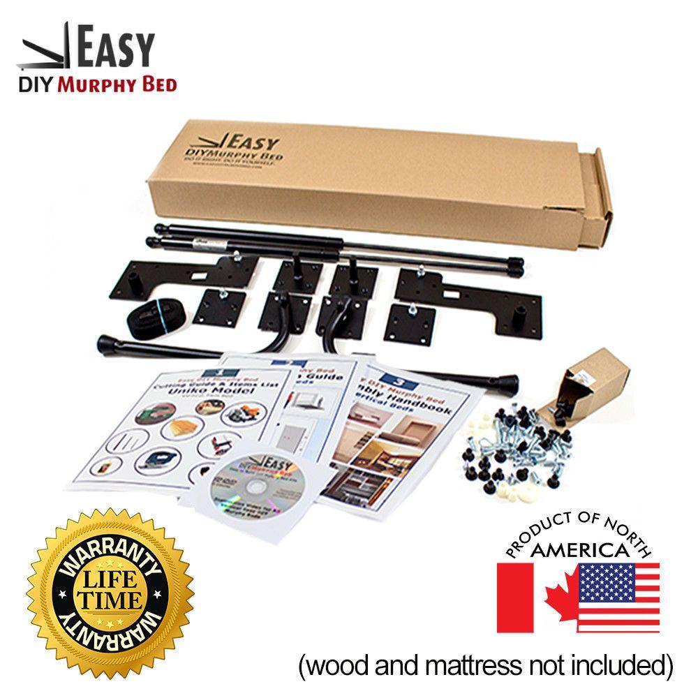 QueenSize DoitYourself Murphy Bed Hardware Kit