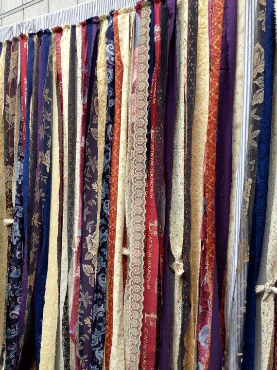 6 Ft Shower Curtain Part - 18: Steampunk Shower Curtain - Goth Victorian Gypsy Renaissance Fabric Garland  - Wedding Backdrop Photo Prop 6