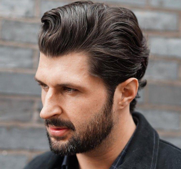 Trendfrisuren Männer Mittellange Haare Sleek Look Frisuren