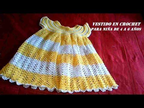 363c5f3ff Vestido tejido a crochet todas las tallas parte 2 - YouTube | bebe ...