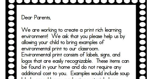 Using environmental print in the classroom kindergarten chaos.