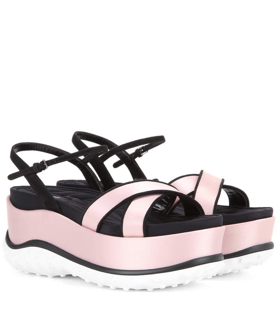 35bc8bd8581f MIU MIU Satin Platform Sandals.  miumiu  shoes  sandals