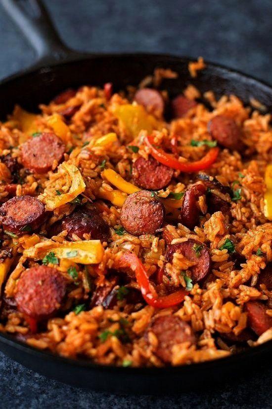 Wurst, Pfeffer und Reis Diese schnellen und einfachen Enchiladas benötigen nur 5 - Crockpot Rezept