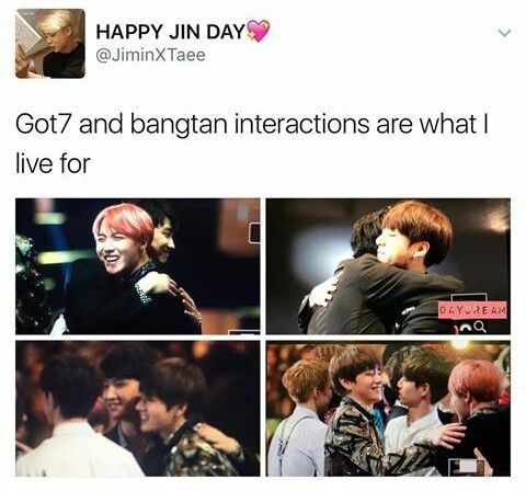 Any Time My Fav Groups Interact Got7 Kpop Memes Bts Funny