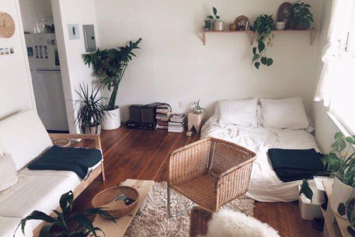 Simple Vintageminimalism At Home Room Pinterest Minimalism Enchanting Decorate Small Apartment Set