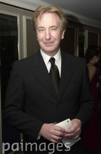 Actor Alan Rickman arrives at the Sony Radio Academy Awards at the Grosvenor House Hotel in London.
