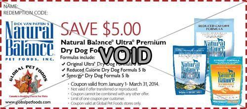 Natural Balance Dog Food Coupons >> Save 5 Natural Balance Ultra Premium Dry Dog Food 5 Lb