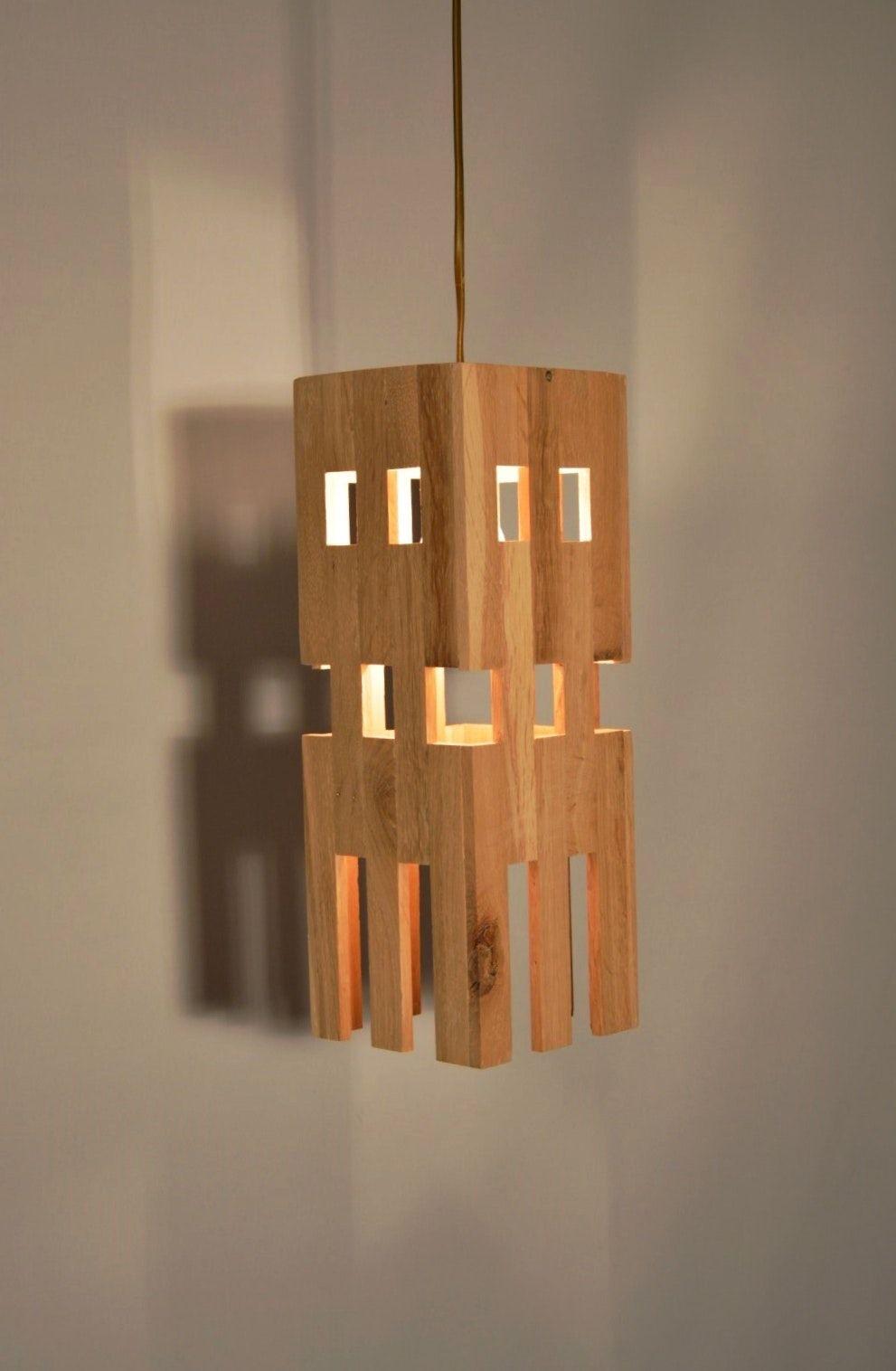 ACHYA Design pendant lamp in oak wood Design lamp in oak wood MADE