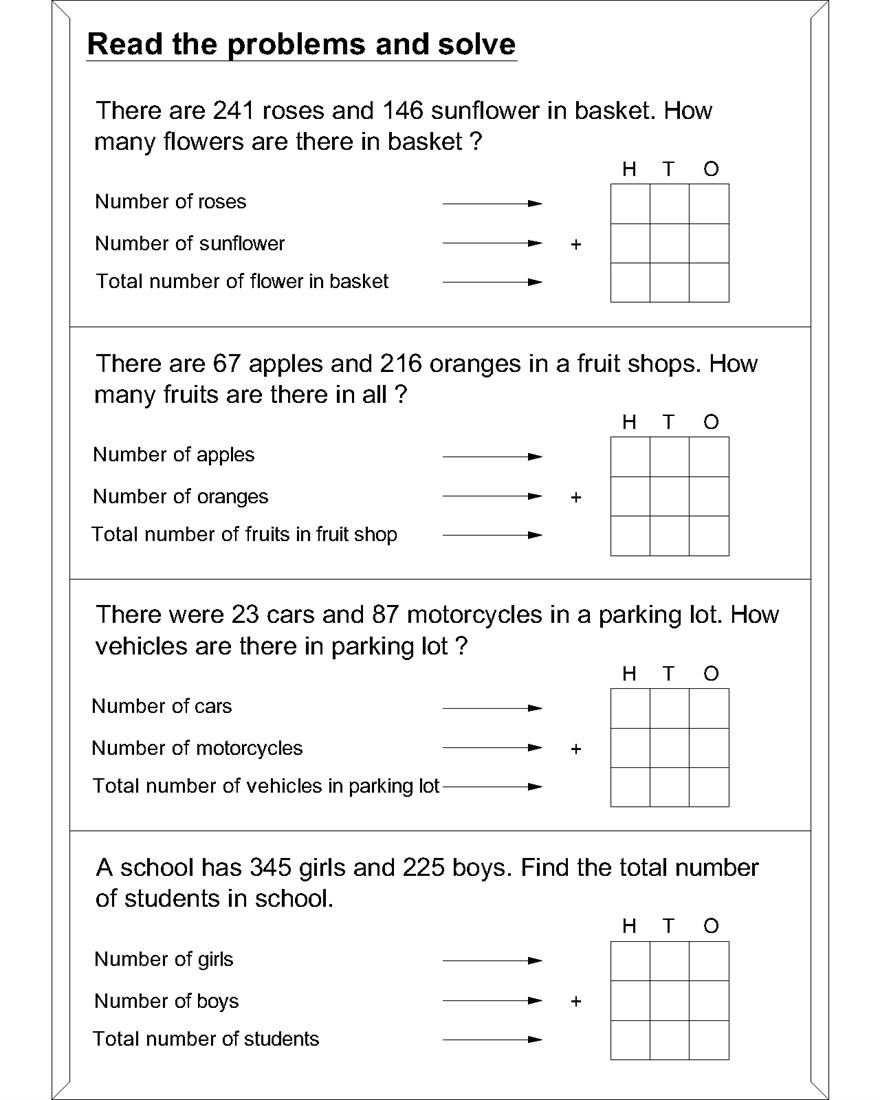 maths worksheets for addition word problems math word. Black Bedroom Furniture Sets. Home Design Ideas