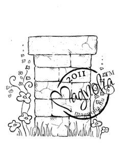 *Magnolia FLOWER WALL POST Rubber Stamp Sweet Rainbow 2011