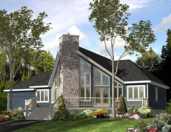 Contemporary Style House Plan 48040 With 3 Bed 2 Bath 1 Car Garage Contemporary House Plans Cottage Plan Country House Plans