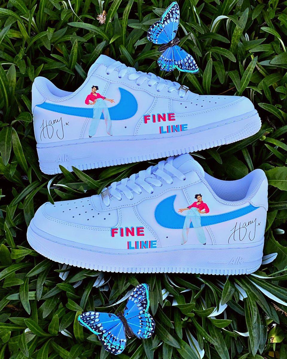 Harry Styles Custom Shoes Nike Air Force 1 Harry Styles Shoes Custom Shoes Diy White Nike Shoes