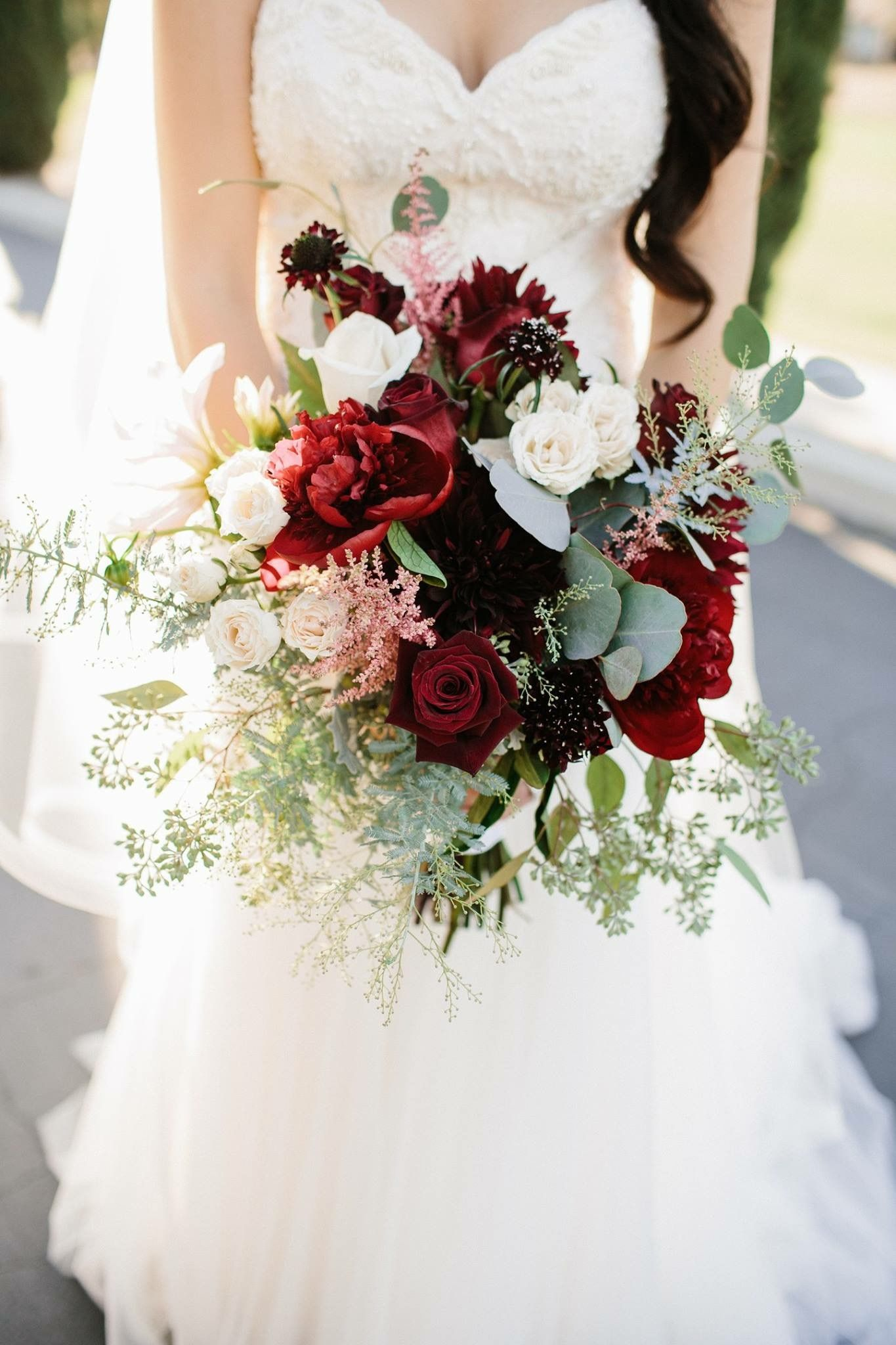 Fall Wedding Bouquet Cranberry Wedding Colors Cranberry Wedding Red Bouquet Wedding Rustic Wedding Bouquet