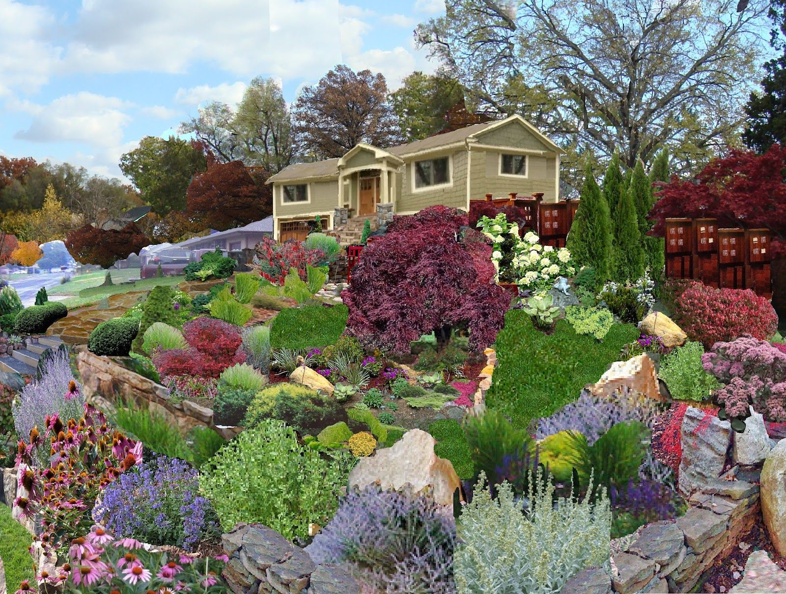 stone landscaping ideas google search on beautiful front yard rock n flowers garden landscaping ideas how to create it id=16070