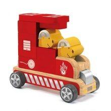 Steckfahrzeug Feuerwehr Buldy Bombero von djeco
