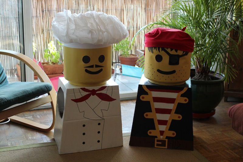 D guisements de lego en carton d guisements pinterest lego d guisements et carton - Deguisement tete de lego ...