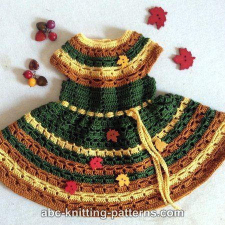 ABC Knitting Patterns - American Girl Doll Autumn Lace Dress ...