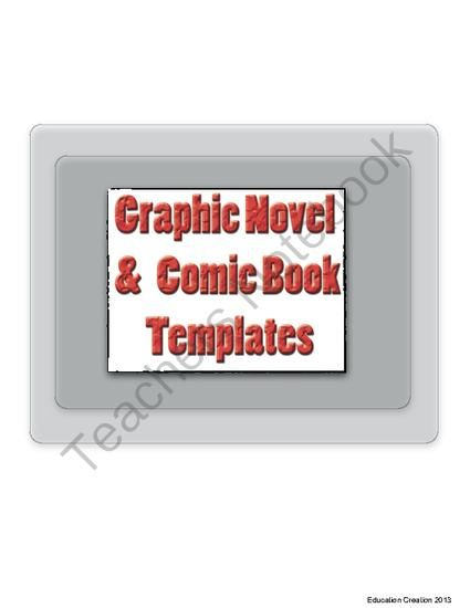 Graphic Novel  Comic Book Template From Digital Divide  Conquer