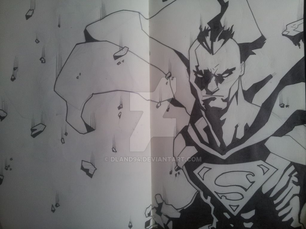 Mohawk superman finished by dland on deviantart superman the