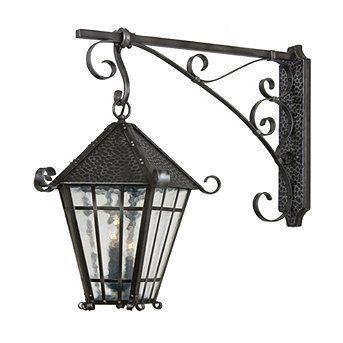 Chalet Bracket Lantern Black Iron Small Frontgate By