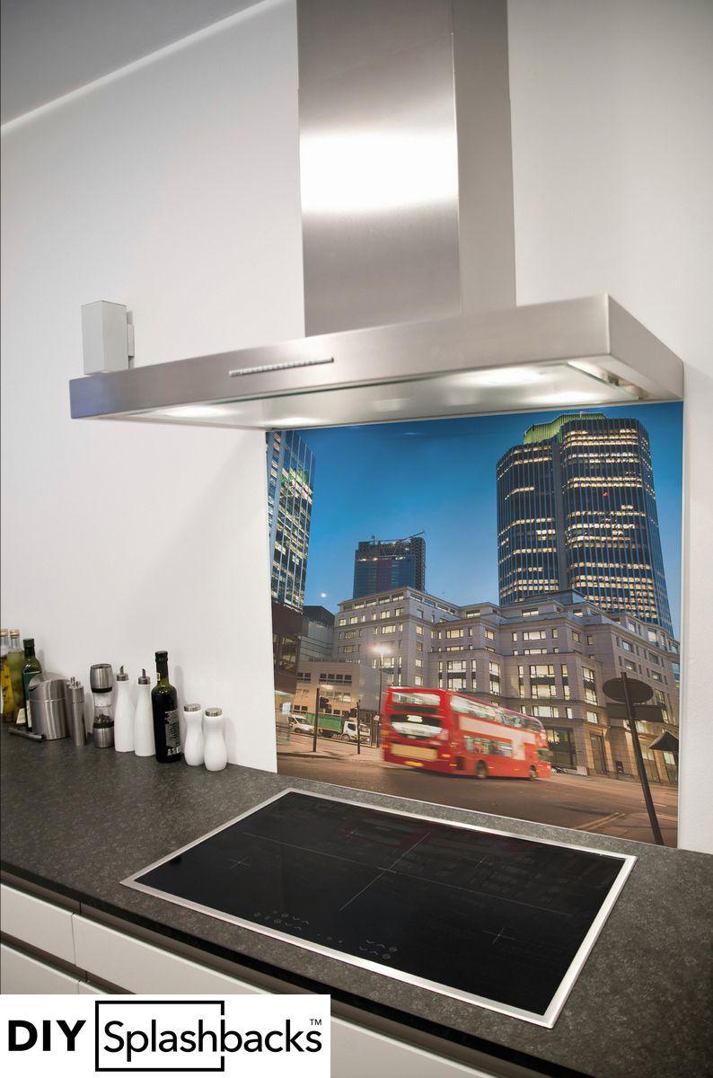 from DIY Splashbacks London Watercolour Kitchen Glass Splashback