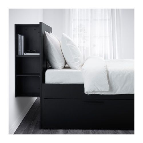 Ikea Us Furniture And Home Furnishings Headboard Storage Bed Frame With Storage Brimnes Bed