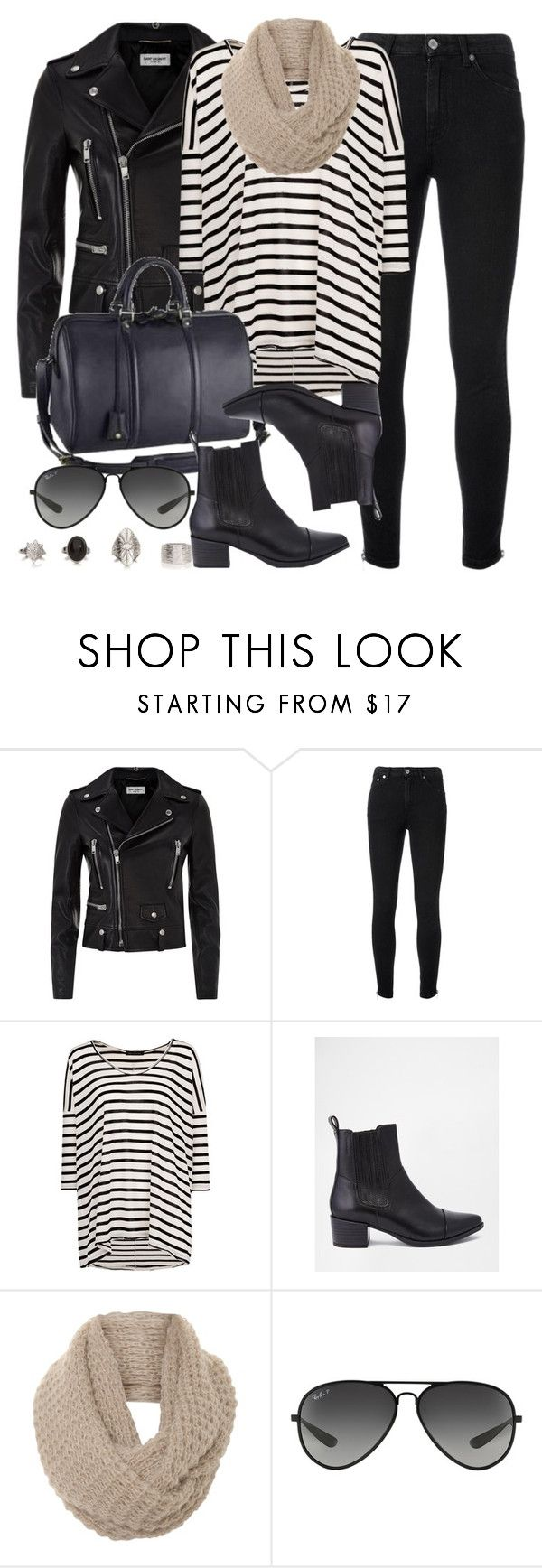 """""""Style #9811"""" by vany-alvarado ❤ liked on Polyvore featuring Yves Saint Laurent, MANGO, Louis Vuitton, Vagabond, A