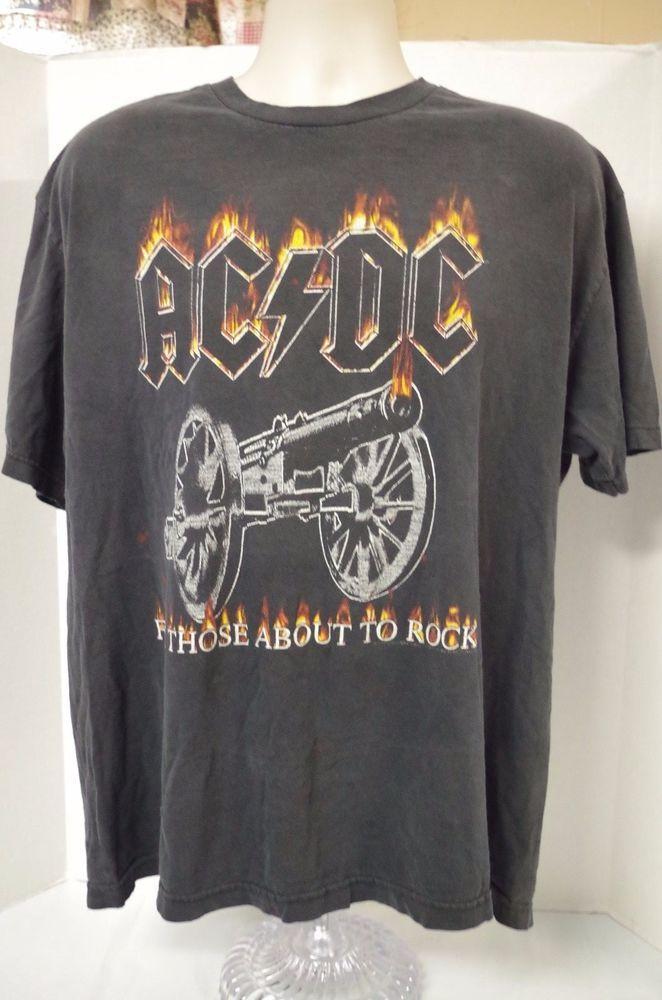f8df6d78 AC-DC True Vintage T Shirt Tour Concert T Shirt For Those About To Rock XL  #AAA #BasicTee