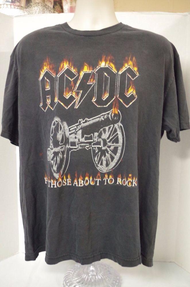 Ac Dc True Vintage T Shirt Tour Concert T Shirt For Those About To Rock Xl Vintage Concert T Shirts Vintage Tshirts Concert Shirts