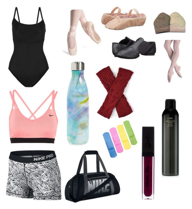 """""""What's in my dance bag"""" by acharlia2004 on Polyvore featuring Ballet Beautiful, Capezio, NIKE, S'well, Journee Collection, Bloch and Oribe"""