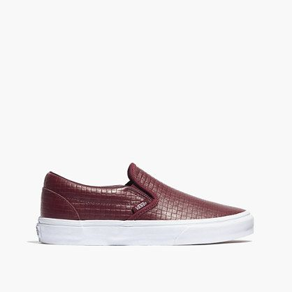 Madewell - Vans® Classic Slip-On Sneakers in Embossed Check in Port Royal (