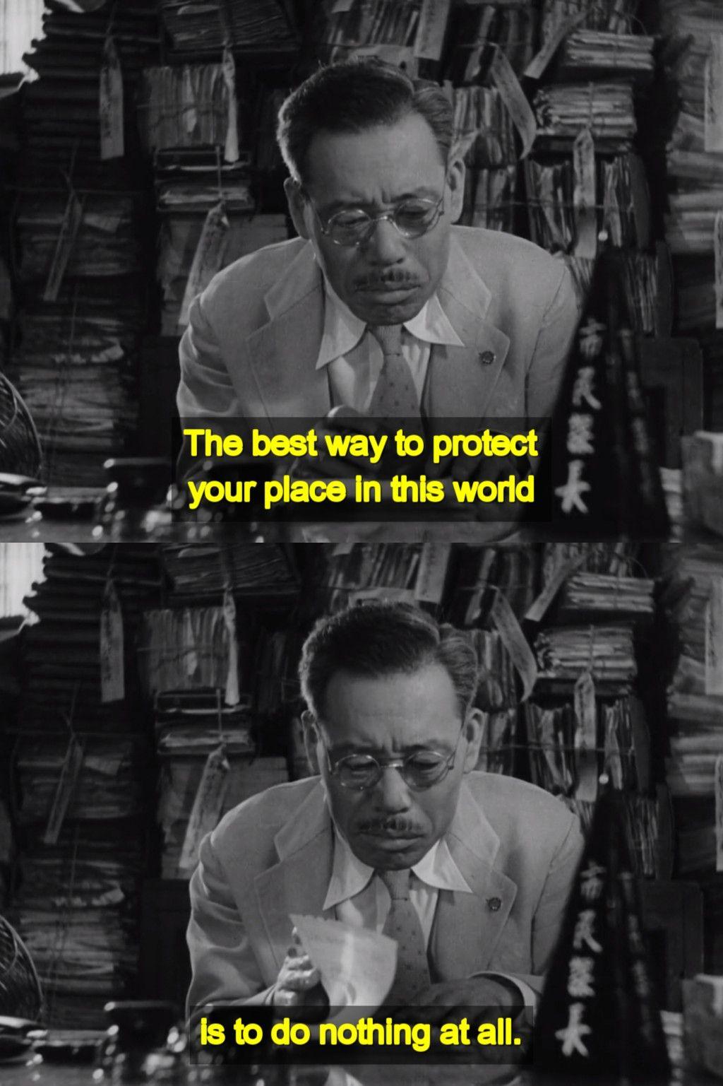 Ikiru 1952 By Akira Kurosawa Tv Series Quotes Movie Quotes Film Director