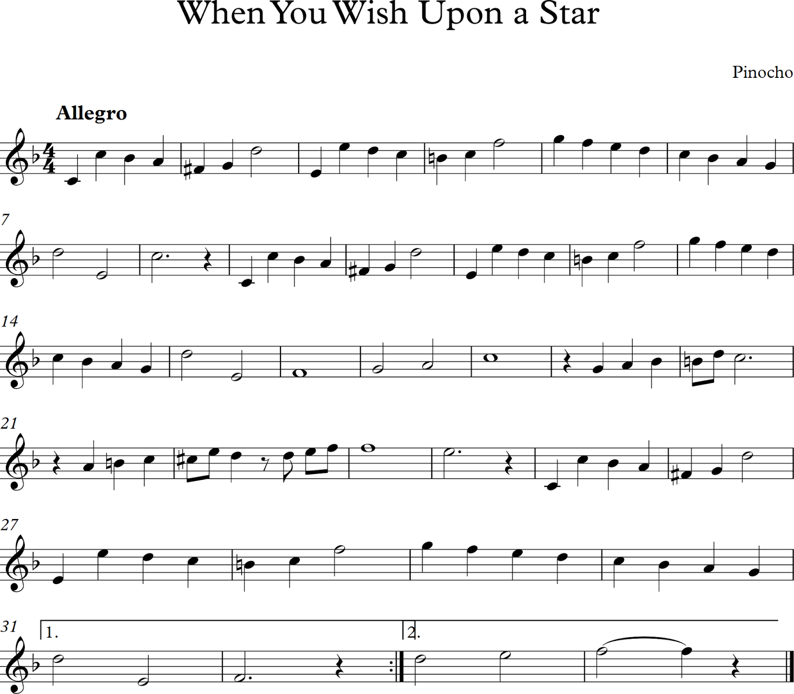 When You Wish Upon a Star (Pinocho)