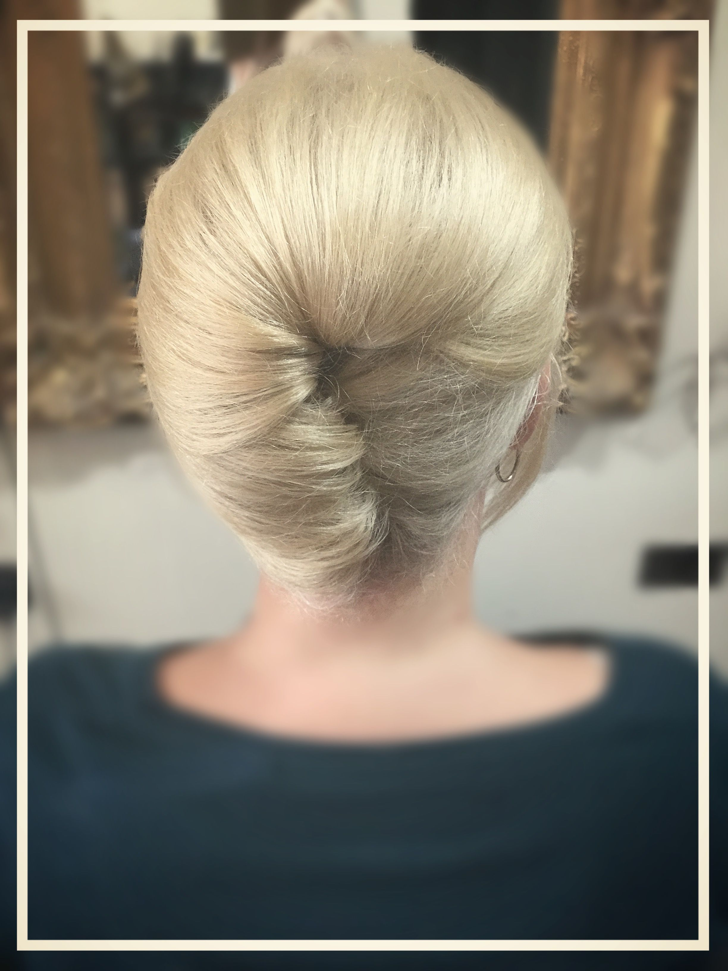 Mother of bride hairstyle french twist roll easy style bridal