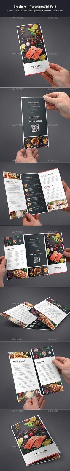Brochure Restaurant Tri Fold Tri Fold Brochure Template Tri
