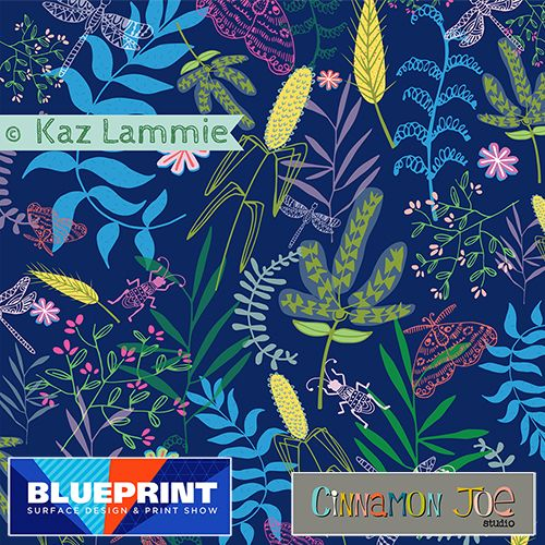 Midnight garden surface pattern for cinnamon joe studio blueprint midnight garden surface pattern for cinnamon joe studio blueprint show nyc malvernweather Gallery
