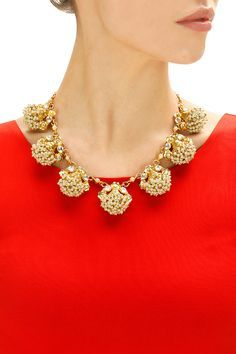 Gold finish baby pearl bunch necklace by Rohita and Deepa. Shop now: www.perniaspopups.... #necklace #charming #designer #rohitaanddeepa #pretty #accessory #shopnow #perniaspopupshop #happyshopping