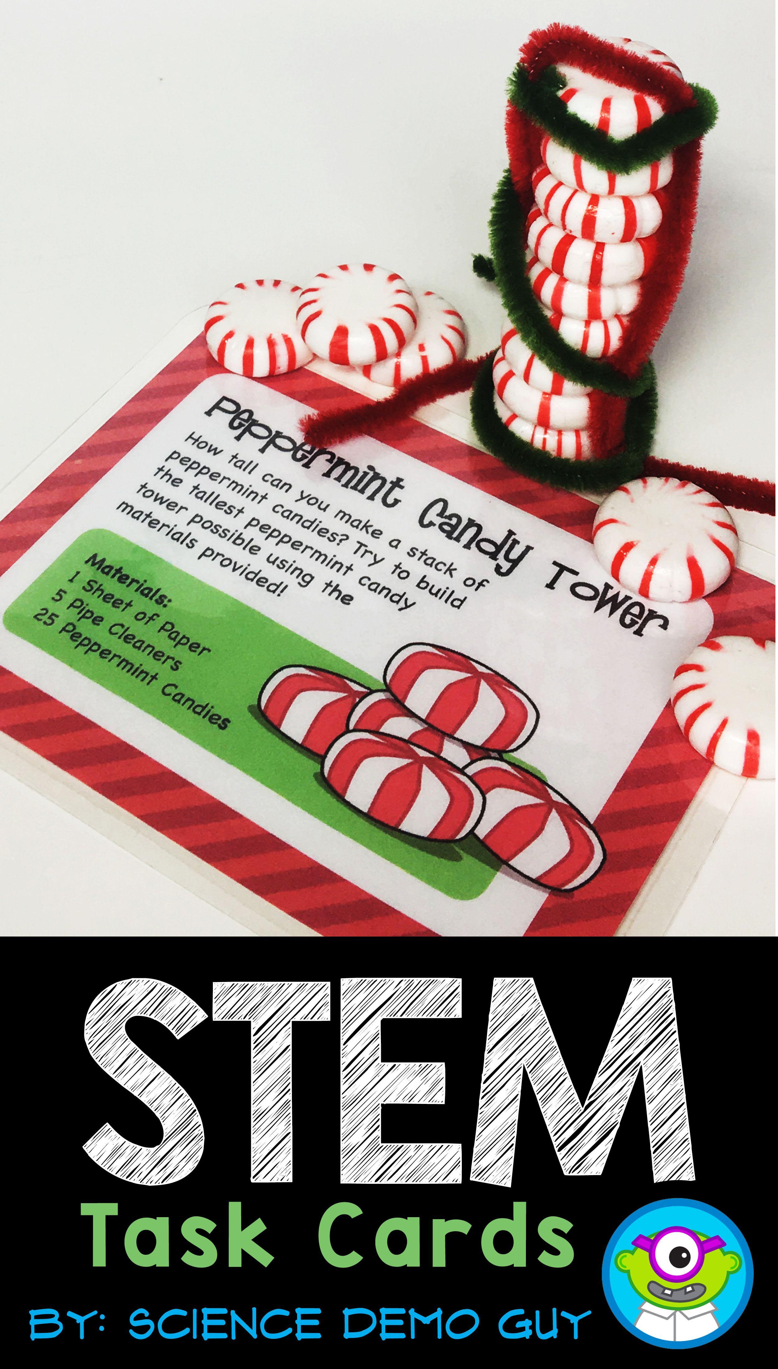 Holiday Stem Task Cards For Christmas December