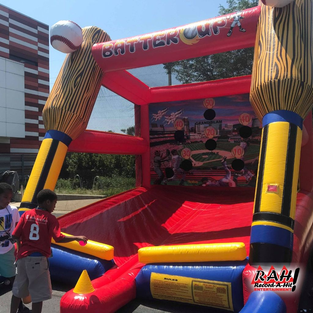 Batter Up Baseball Inflatable Carnival Game Carnival Games Party Rentals Equipment Inflatable
