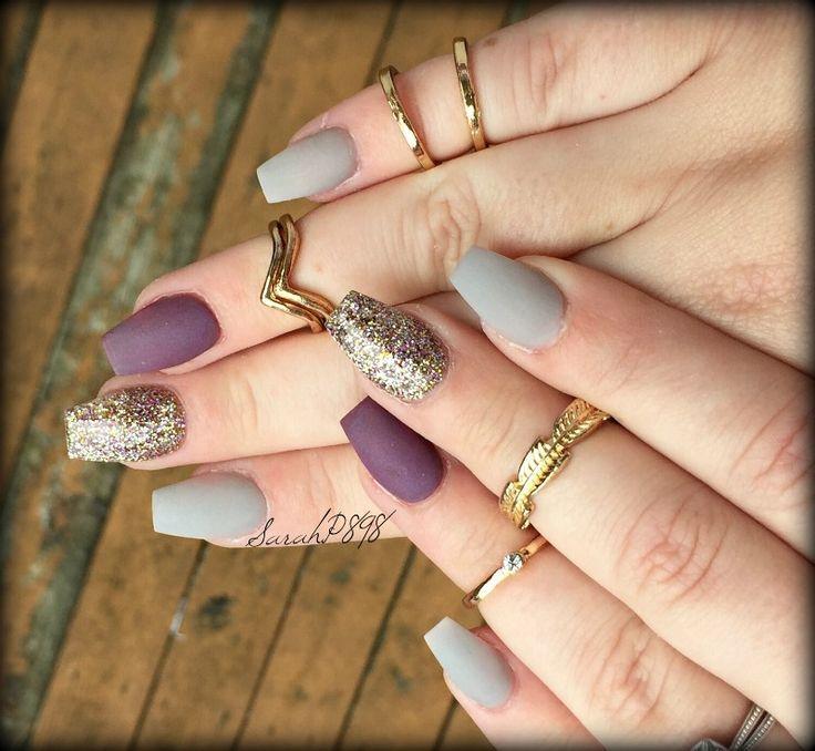 fall matte nails … | Pinteres…