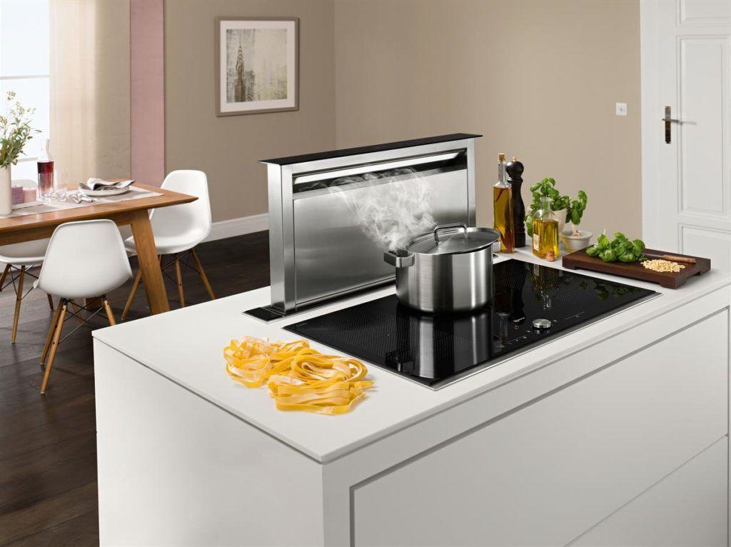 Pin von Küchenfinder auf Kochfeldabzug: Dunstabzug nach unten ...