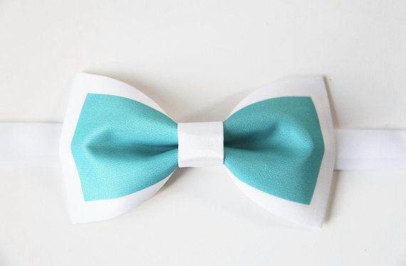 DQT Woven Floral Paisley Turquoise Wedding Classic Mens Pre-Tied Bow Tie