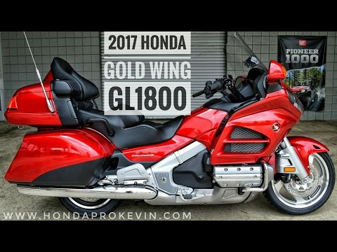 2017 Honda Gold Wing Walk Around Video Candy Red Gl1800 Touring