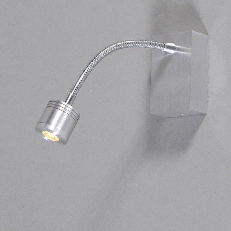 Aplique de pared YET 1 aluminio - lamparayluz.es