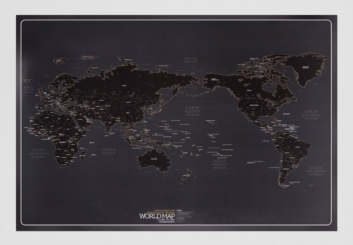 Fancy world map by knock mapping the world pinterest fancy world map by knock made of paper the map measures 930 x color black please allow weeks for delivery gumiabroncs Gallery